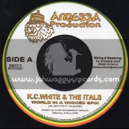 "Anbessa Production-7""-World In A Wicked Spin / K.C.White And The Itals"