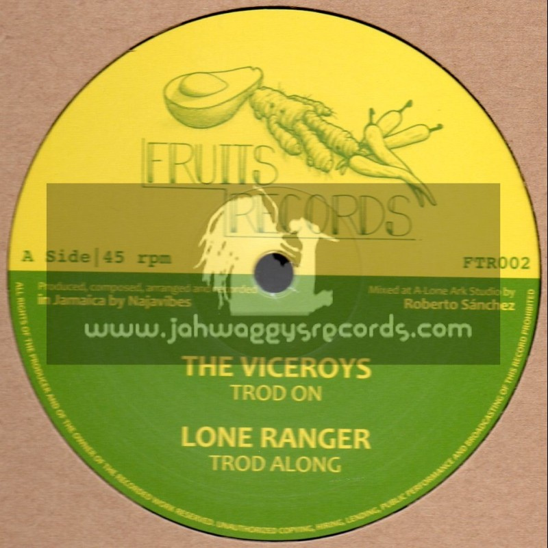 """Fruits Records-12""""-Trod On / The Viceroys + Trod Along / Lone Ranger + Jah Love In The Morning / Prince Alla"""