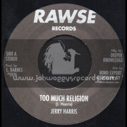 "Rawse Records-7""-Too Much Religion / Baba Leslie & Jerry Harris"