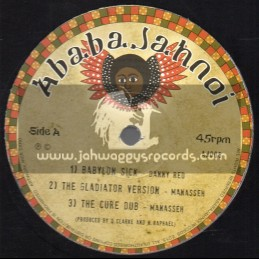 """Ababajahnoi-12""""-Test Press-Babylon Sick / Danny Red-Manasseh + Jah Is Here / Danny Red-Conscious Sounds"""