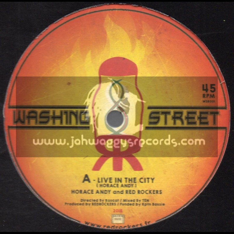 """Washing Street-12""""-Live In The City + Monster Mobster / Horace Andy & Red Rockers"""