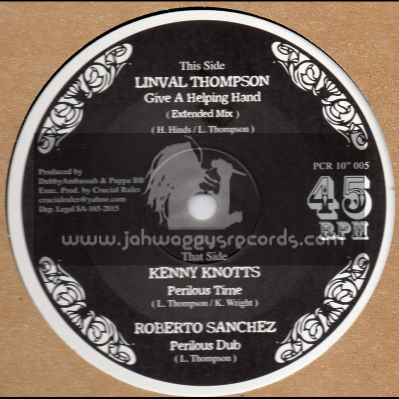 """Pirates Choice-10""""-Give A Helping Hand / Linval Thompson + Perilous Time / Kenny Knotts"""