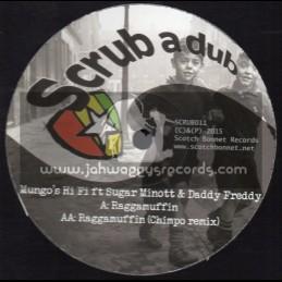 """Scrub A Dub-12""""-Raggamuffin / Mungos Hi Fi Feat. Sugar Minott And Daddy Freddie"""