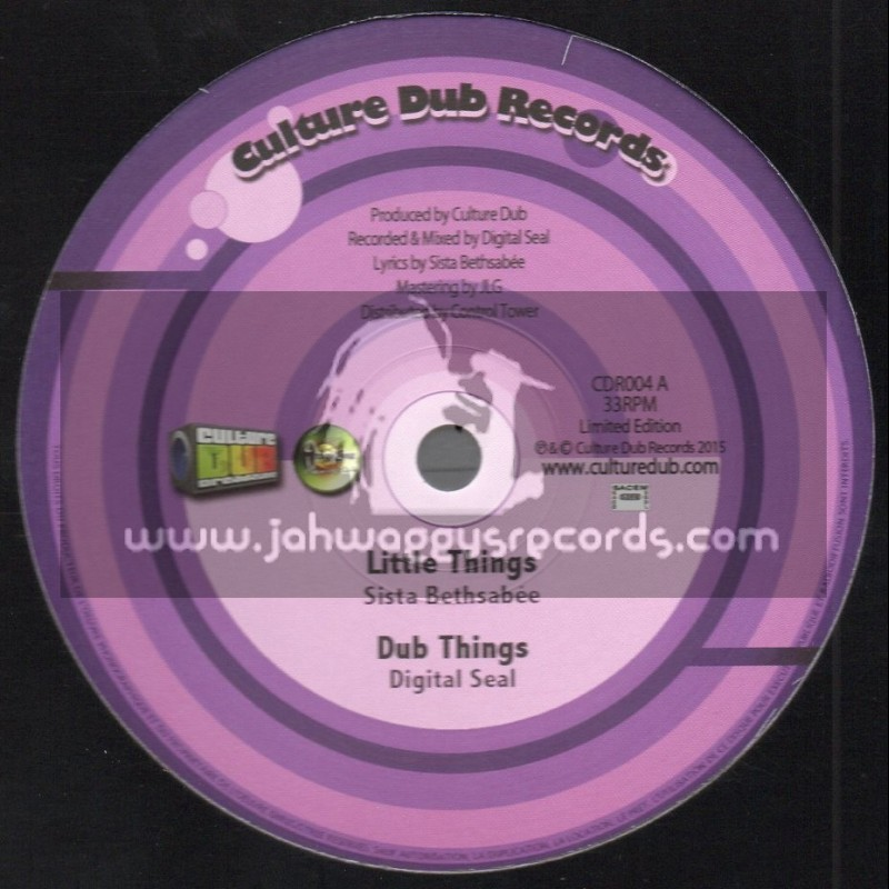"""Culture Dub Records-10""""-Little Things / Sista Bethsabee + Spellin / Culture Dub"""