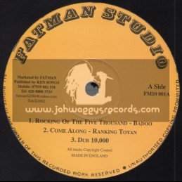 """Fat Man Records-10""""-Test Press-Rocking Of The Five Thousand / Badoo"""