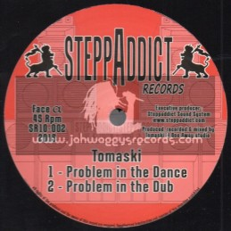 """SteppAddict Records-10""""-Problem In The Dance / Tomaski + Next Step / Wise Rockers"""