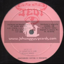 """Jedi-12""""-Jack Up / Vincent March + The One You Love / Pat Kelly"""