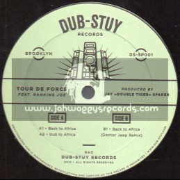 "Dub Stuy Records-12""-Back To Africa / Tour De Force Feat. Ranking Joe + Doctor Jeep Remix"