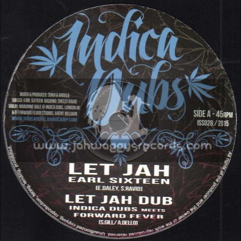 """Indica Dubs-10""""-Let Jah / Earl Sixteen + Love In Your Heart / Marianne - Indica Dubs Meets Foward Fever"""