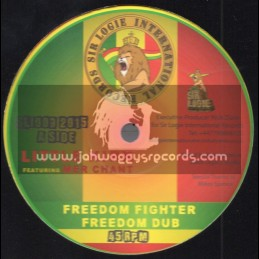 "Sir Logie International Records-10""-Freedom Fighter / Little Kirk Feat. Mer Chant"