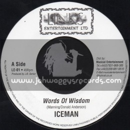 "Links Entertainment-7""-Words Of Wisdom / Iceman"