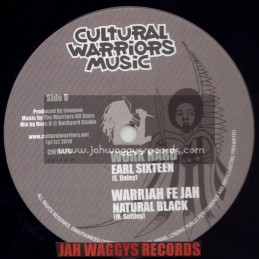 "CULTURAL WARRIORS MUSIC-10""-NO WICKED / EEK A MOUSE + WORK HARD / EARL SIXTEEN + WARRIAH FE JAH / NATURAL BLACK"