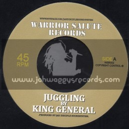 "WARRIOR SALUTE RECORDS-7""-JUGGLING / KING GENERAL"