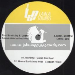 "Lana Sounds-10""-Merciful / Galak Spiritual+Mama Eart Inna Heat / Clapper Priest+Give Me Some Money / George Palmer-Tempo Riddim"