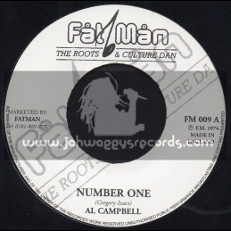 """Fat Man Records-7""""-Number One / Al Campbell"""