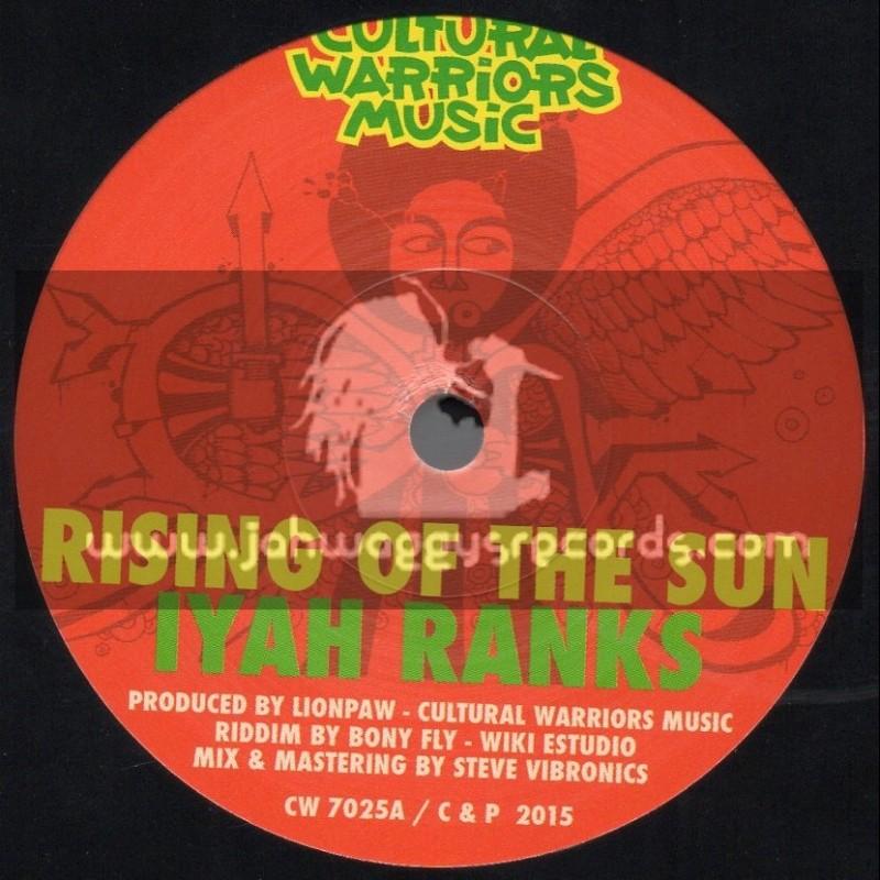 "Cultural Warriors Music-7""-Rising Of The Sun / Iyah Ranks"