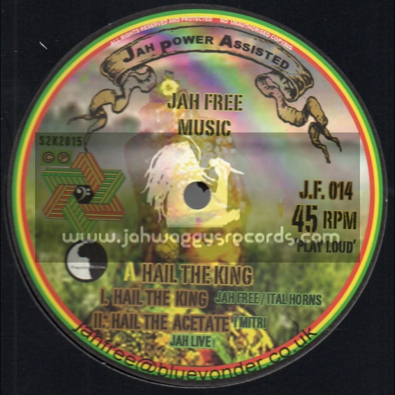 "Jah Free Music-12""-Hail The King / Jah Free - Ital Horns"