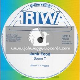 """Ariwa-12""""-Junk Food / Soom T + Rebels Gathering / Mad Professor"""