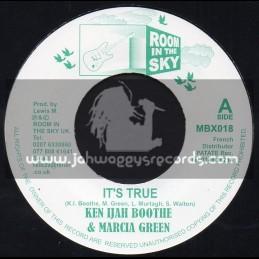 """Room In The Sky-7""""-Its True + Ken Ijah Booth & Marcia Green + We ll Be Together / Ken Ijah Booth & Marcia Green"""