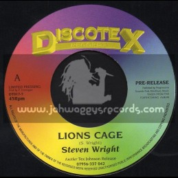 "Discotex Records-7""-Lions Cage / Steven Wright"