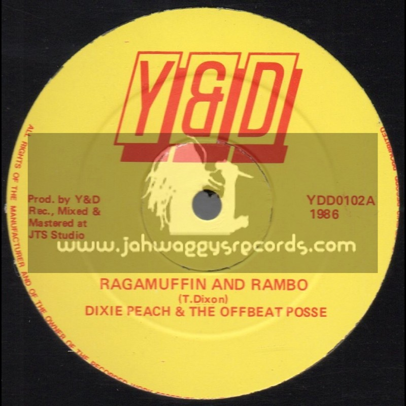 """Y & D-12""""-Ragamuffin And Rambo / Dixie Peach & The Offbeat Posse"""