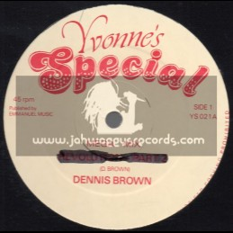 """Yvonnes Special-12""""-All Because Of You / Denns Brown"""