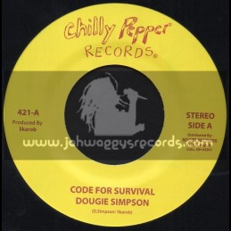 """Chilly Pepper Records-7""""-Code For Survival / Dougie Simpson"""