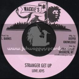 """Wackies-7""""-Stranger / Love Joys"""