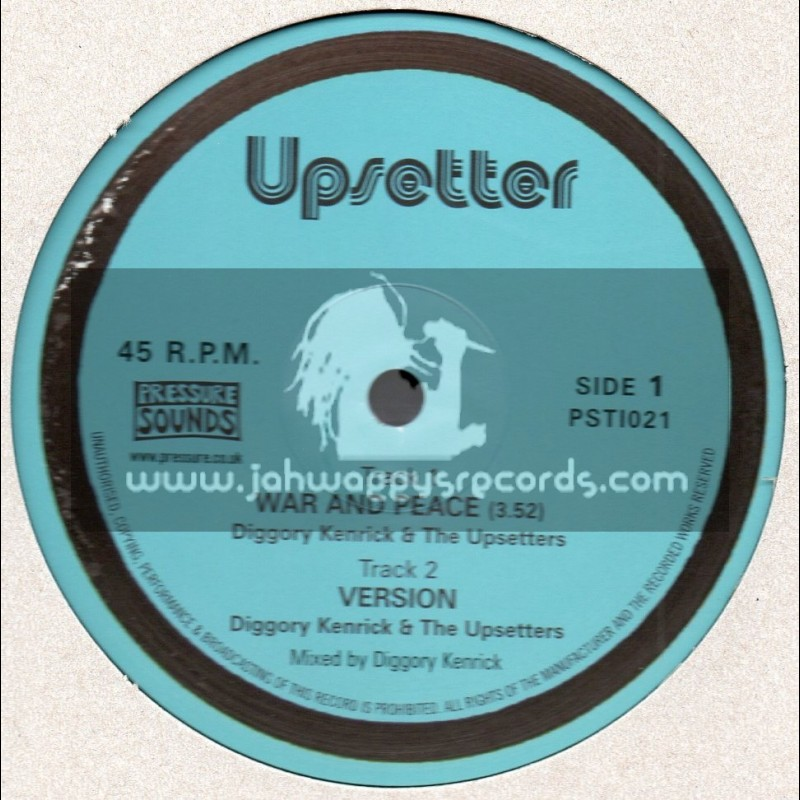 "Upsetter-10""-War & Peace / Diggory Kendrick & The Upsetters + Guerra Y Paz / The Disciple"
