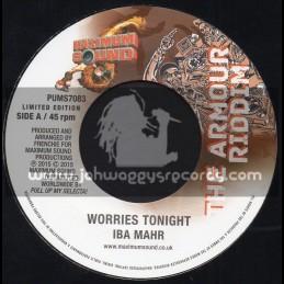 "Maximum Sound-7""-Worries Tonight / Iba Mahr + Azania Rock / Addis Pablo - The Armour Riddim"