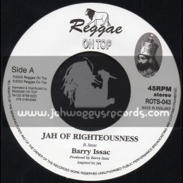 """Reggae On Top-7""""-Jah Righteousness / Barry Issac"""