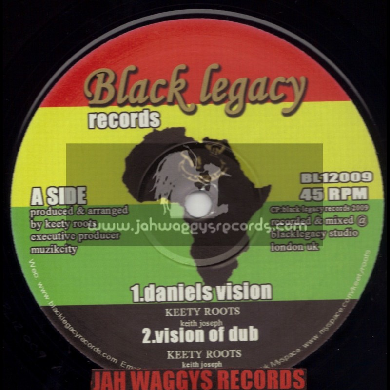 """BLACK LEGACY RECORDS-12""""-DANIALS VISION/KEETY ROOTS + BROOKLYN GHETTO ROCK / KEETY ROOTS MEETS HORNSMAN COYOTE"""