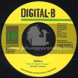 "Digital B-7""-Got It Right There / Sizzla"