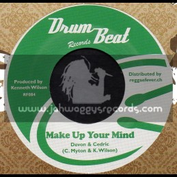 "Drum Beat Records-7""-Make Up Your Mind / Devon & Cedric + I ve Been Looking Back / Max Romeo"