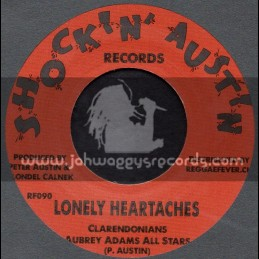 """Shockin Austin Records-7""""-Lonely Heartaches / Clarendonians + Money Girl / Larry Marshall & Peter Austin"""