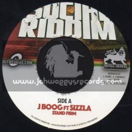 "Royal Order Music-7""-Stand Firm / J Boog Ft. Sizzla + Loud City Dub Mix / Social Riddim"
