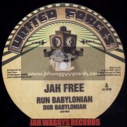 "UNITED FORCES-10""-RUN BABYLONIAN / JAH FREE + LONG TIME BADMAN / JUAKALI MEETS SYNCRO"