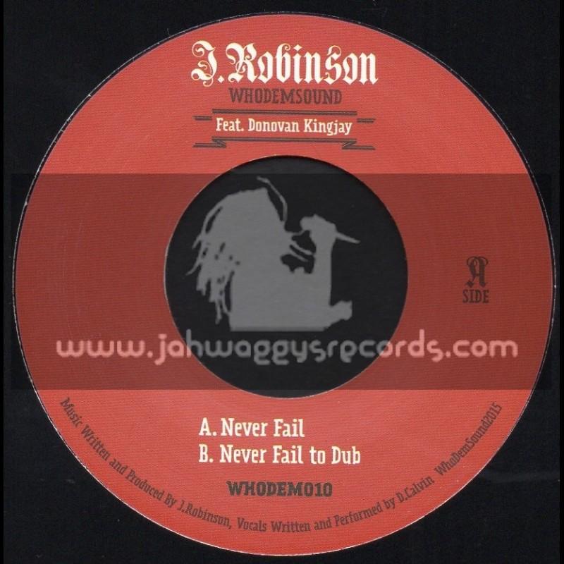 "Whodemsound Records-7""-Never Fail / Donovan Kingjay"