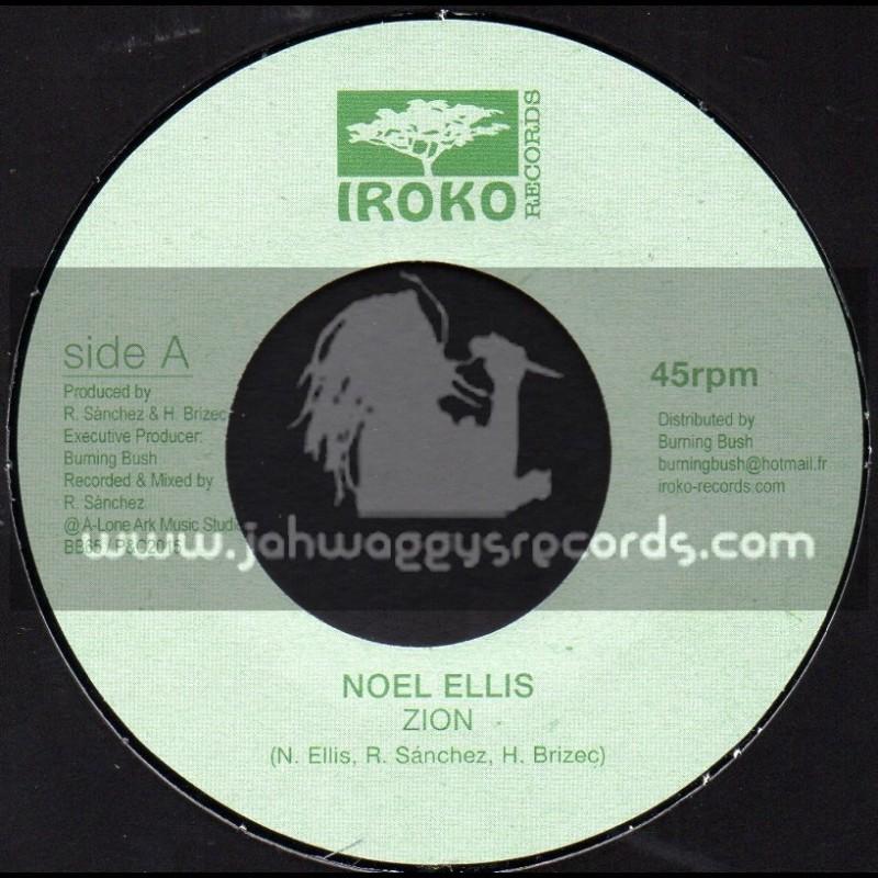 """Iroko Records-7""""-Zion / Noel Ellis"""