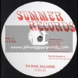 "SUMMER RECORDS-12""-TO HAIL SELASSIE - N ELLIS(EXT VERSION) + REACH MY DESTINY - N ELLIS(EXT VERSION)"