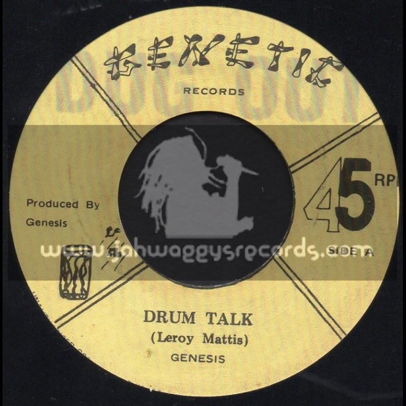 "Genetic Records-7""-Drum Talk / Lerroy Mattis - Genesis"