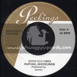 """Peckings-7""""-Good Old Vibes / Raphael Nkereuwem + English / Chris Ellis"""