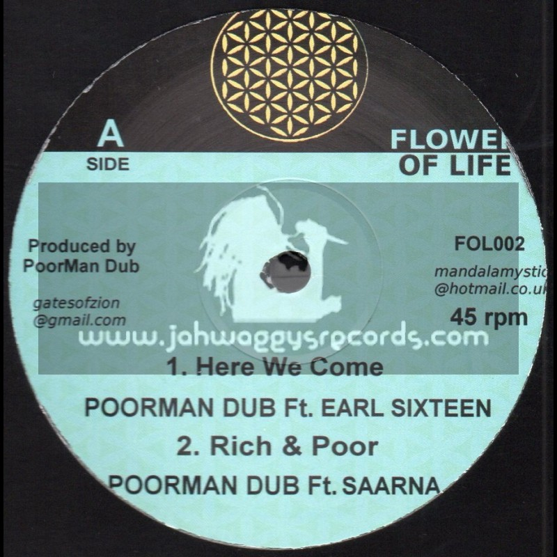 """Flower Of Life-10""""-Here We Come / Poorman Dub Ft. Earl Sixteen"""