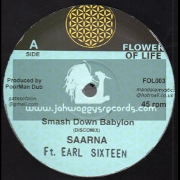 "Flower Of Life-10""-Smash Down Babylon / Saana Ft. Earl Sixteen"