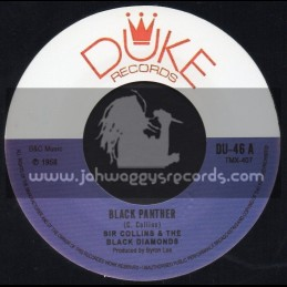"""Duke Records-7""""-Black Panther + I Want To Be Loved /  Sir Collins & The Black Diamonds"""