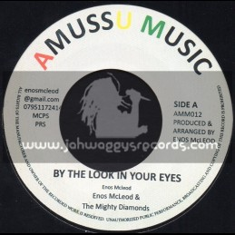 """Amussu Music-7""""-By The Look In Your Eyes / Enos Mcleod & The Mighty Diamonds"""