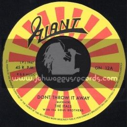 """Giant-7""""-Dont Throw It Away / The Itals With The Soul Brothers + New Loving / The Itals With The Soul Brothers"""