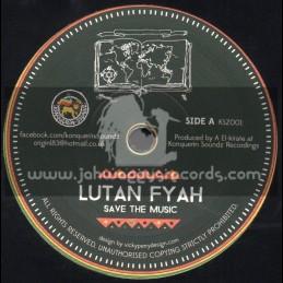 "Konquerin Soundz Recordings-7""-Save The Music / Lutan Fyah + Wiseman / Mosquito"