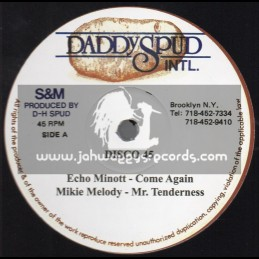 """Daddy Spud International-12""""-Come Again / Echo Minott + Mr Tenderness / Mikey Melody"""