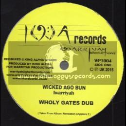 "I W A Records-10""-Wicked Ago Bun / Iwarriyah + Way To Life / Iwarriyah"